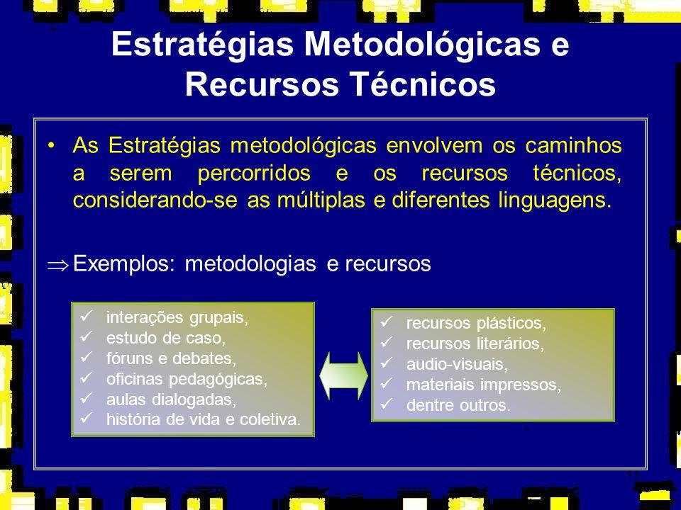 Estratégias Metodológicas e Recursos Técnicos