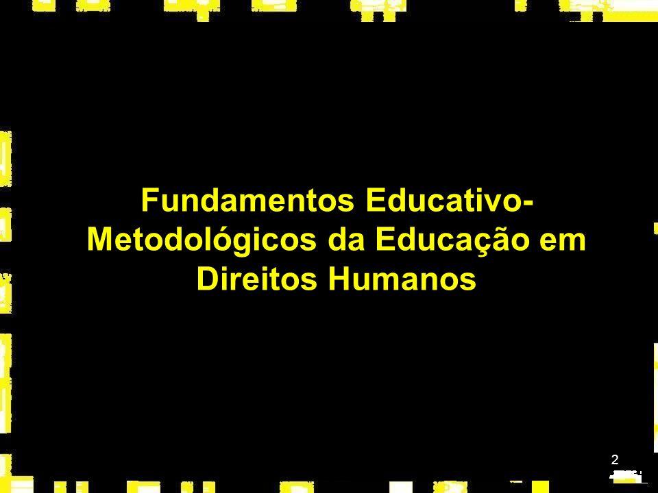 Fundamentos Educativo-Metodológicos da Educação em Direitos Humanos