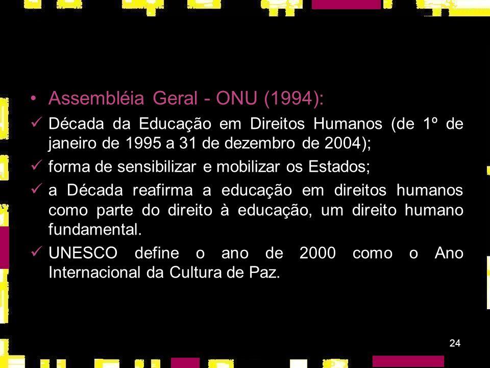 Assembléia Geral - ONU (1994):