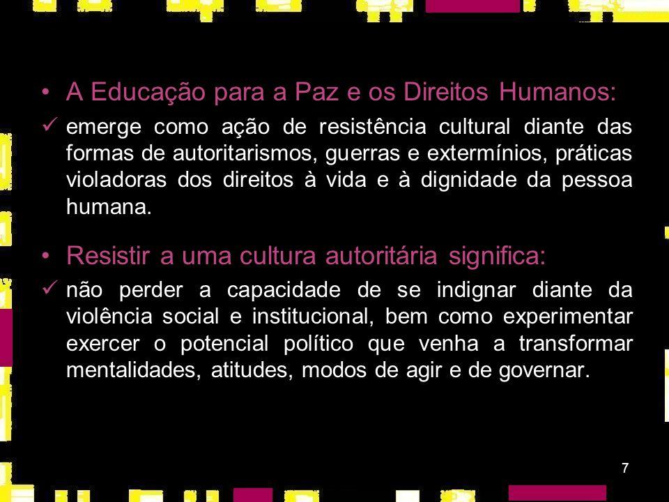 A Educação para a Paz e os Direitos Humanos: