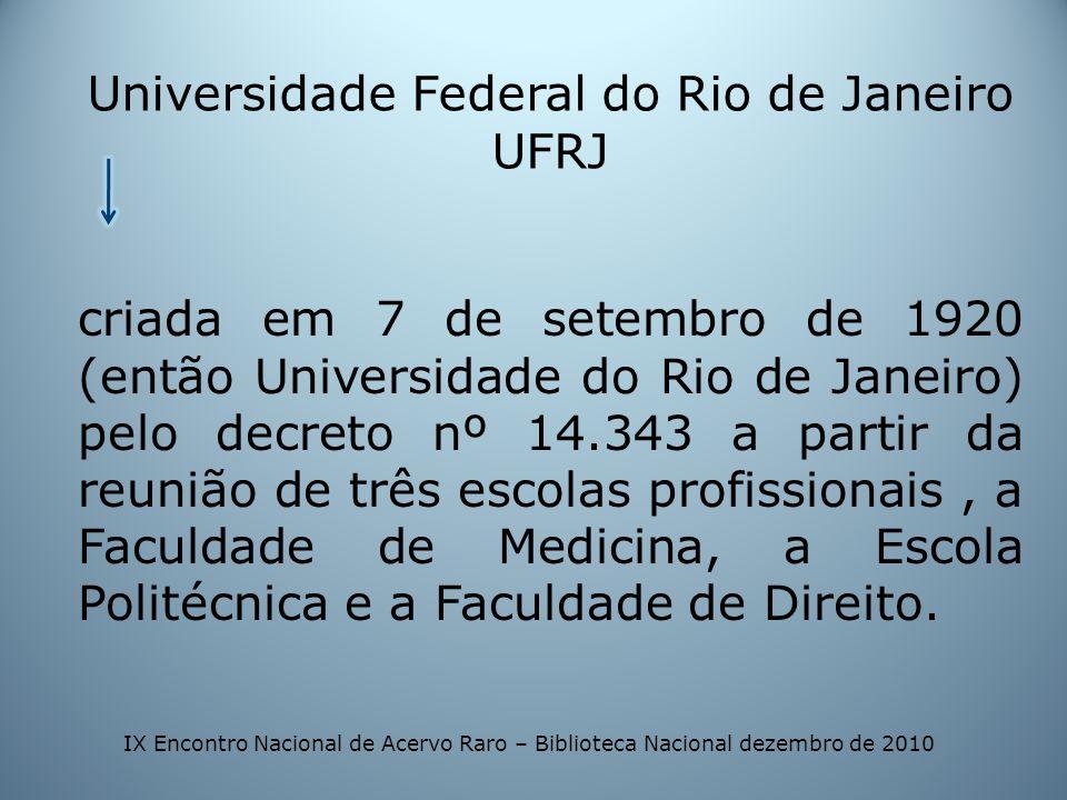 Universidade Federal do Rio de Janeiro UFRJ