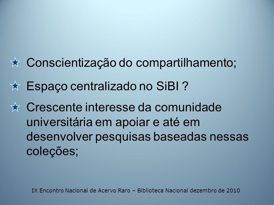 Conscientização do compartilhamento;
