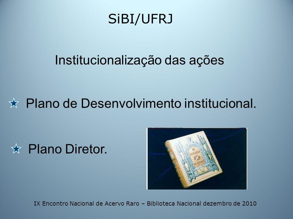 Institucionalização das ações