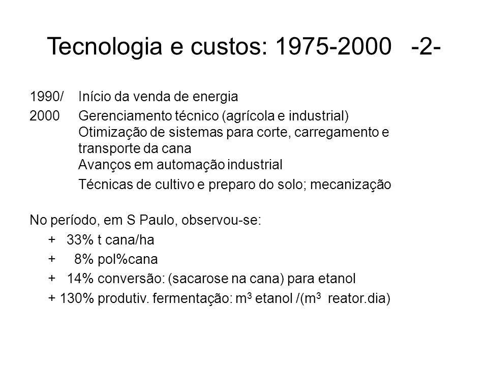 Tecnologia e custos: 1975-2000 -2-