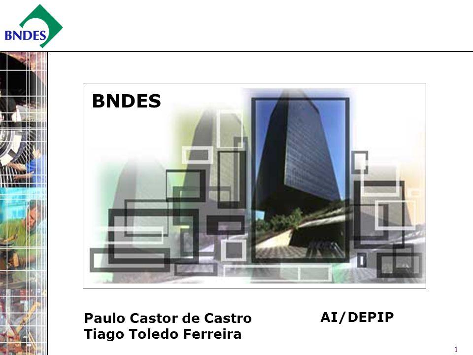BNDES Paulo Castor de Castro Tiago Toledo Ferreira AI/DEPIP