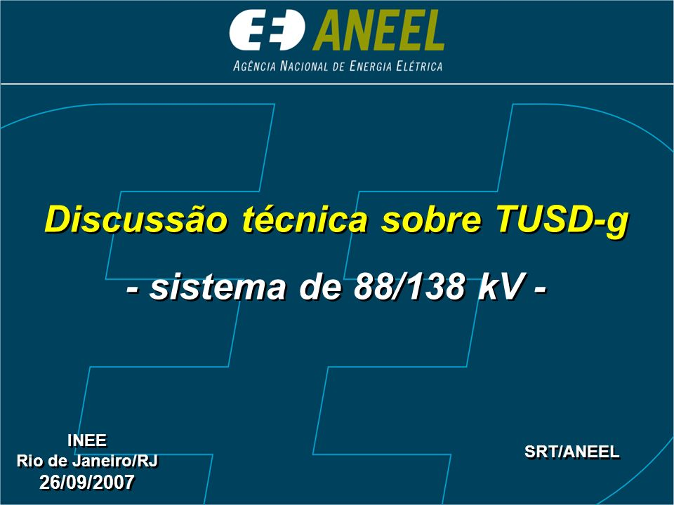Discussão técnica sobre TUSD-g