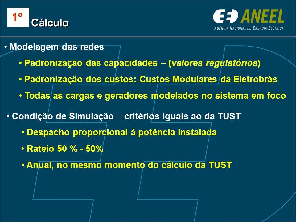 1º Cálculo Modelagem das redes