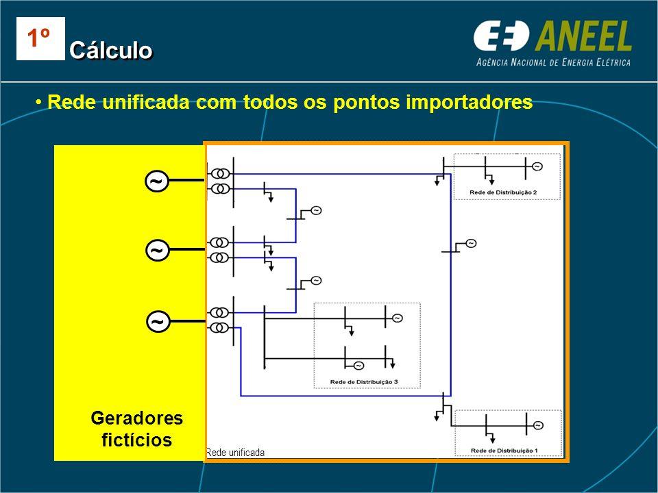 1º Cálculo ~ ~ ~ Rede unificada com todos os pontos importadores