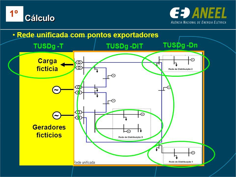 1º Cálculo ~ ~ Rede unificada com pontos exportadores TUSDg -T