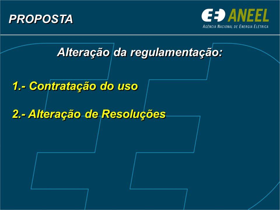 Alteração da regulamentação: