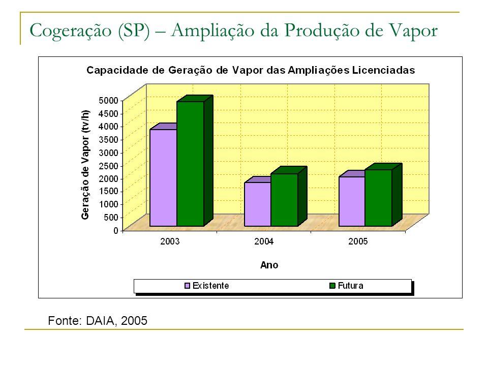 Cogeração (SP) – Ampliação da Produção de Vapor