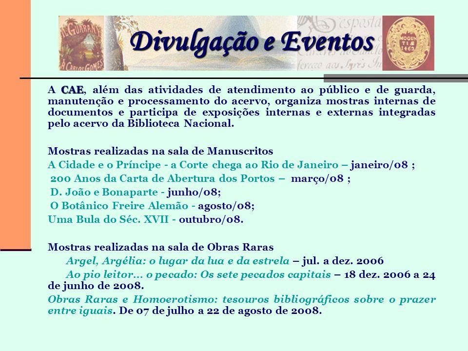 Divulgação e Eventos