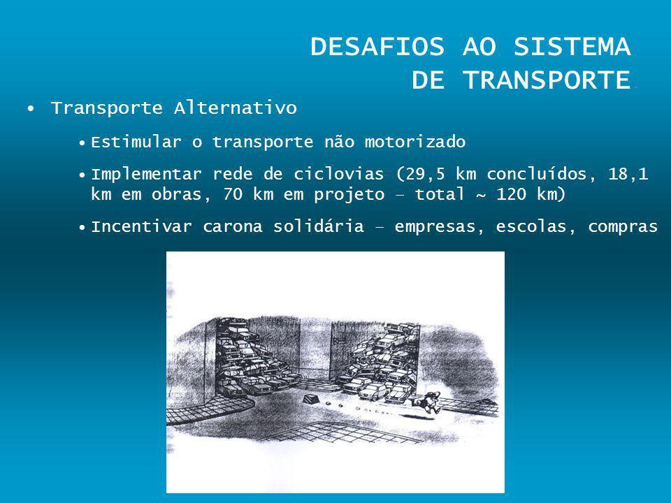DESAFIOS AO SISTEMA DE TRANSPORTE
