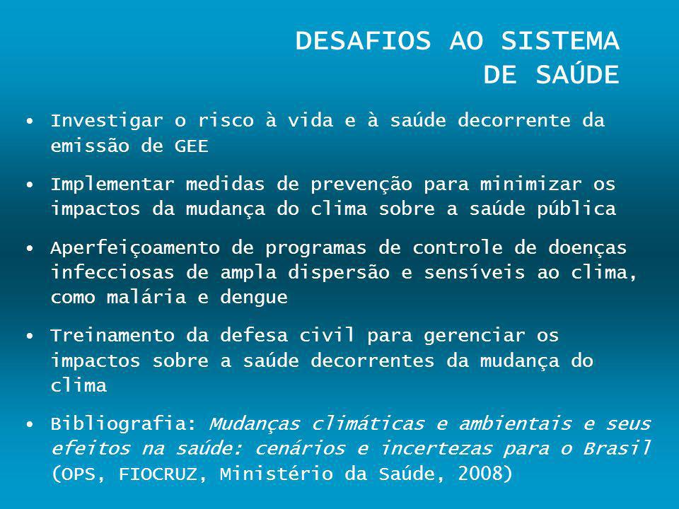 DESAFIOS AO SISTEMA DE SAÚDE