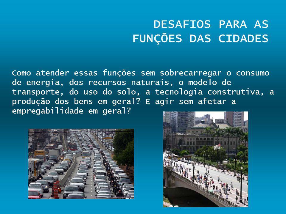 DESAFIOS PARA AS FUNÇÕES DAS CIDADES
