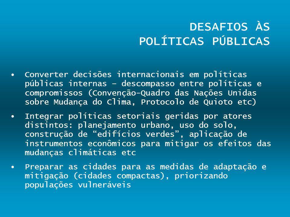 DESAFIOS ÀS POLÍTICAS PÚBLICAS