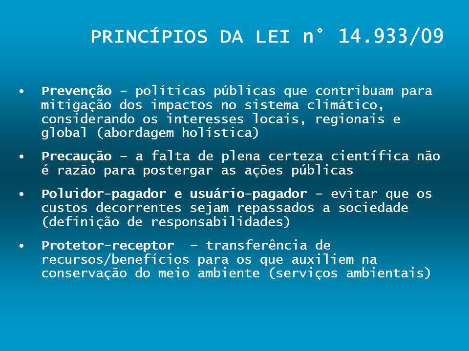 PRINCÍPIOS DA LEI n° 14.933/09