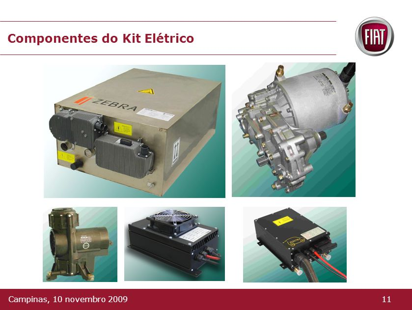 Componentes do Kit Elétrico