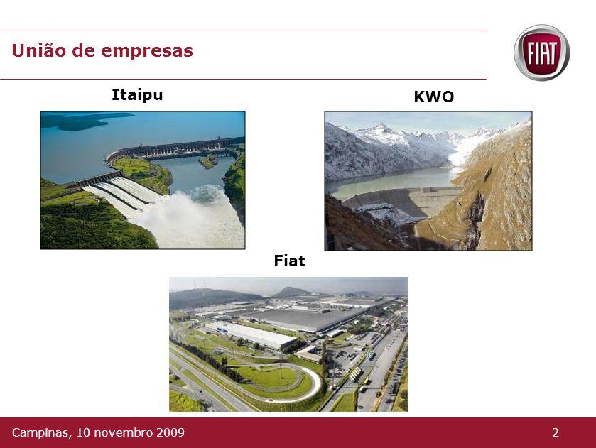 União de empresas Itaipu KWO Fiat Campinas, 10 novembro 2009 2