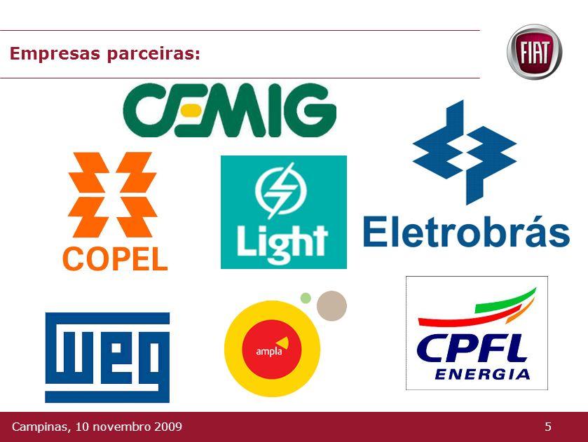 Empresas parceiras: Campinas, 10 novembro 2009 5