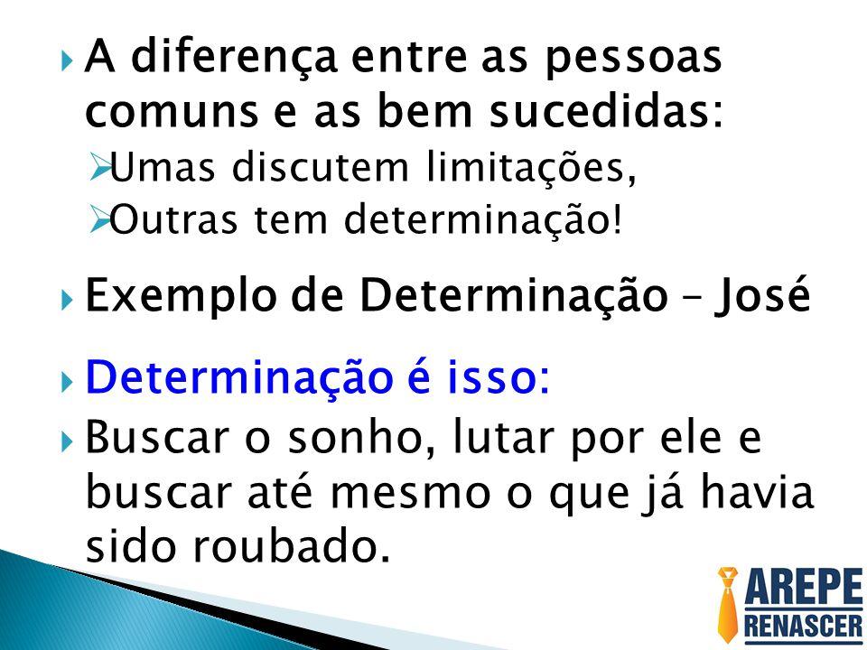 A diferença entre as pessoas comuns e as bem sucedidas: