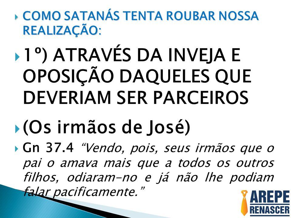 1º) ATRAVÉS DA INVEJA E OPOSIÇÃO DAQUELES QUE DEVERIAM SER PARCEIROS