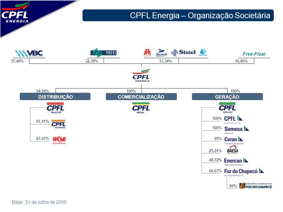 CPFL Energia – Organização Societária