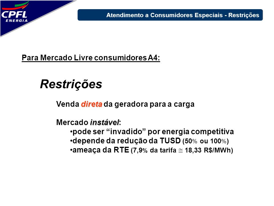 Restrições Para Mercado Livre consumidores A4: