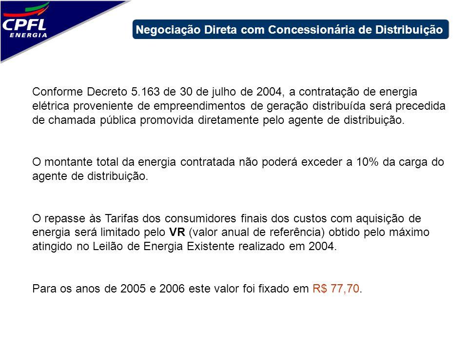 Negociação Direta com Concessionária de Distribuição