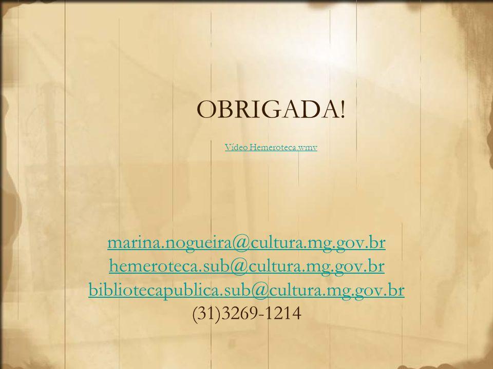OBRIGADA! Vídeo Hemeroteca.wmv