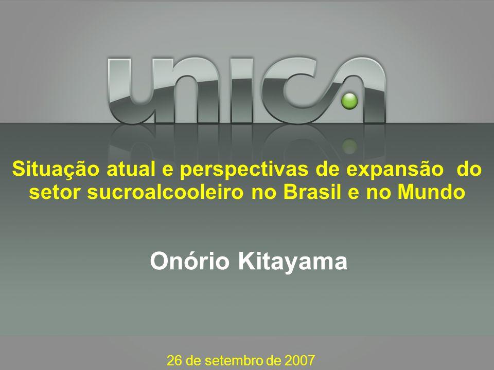 Situação atual e perspectivas de expansão do setor sucroalcooleiro no Brasil e no Mundo