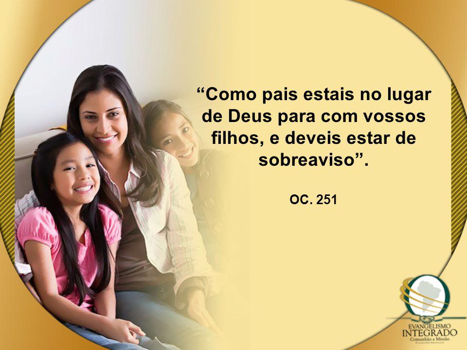 Como pais estais no lugar de Deus para com vossos filhos, e deveis estar de