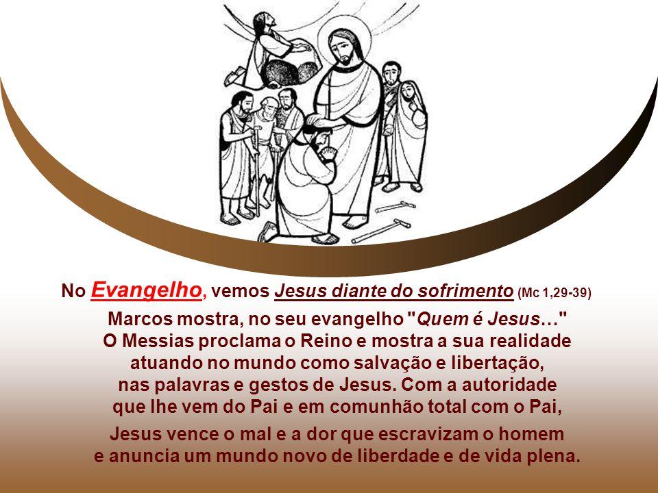 Marcos mostra, no seu evangelho Quem é Jesus…