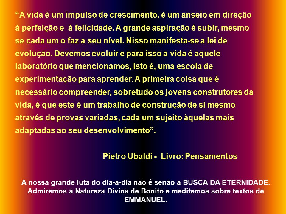 Pietro Ubaldi - Livro: Pensamentos
