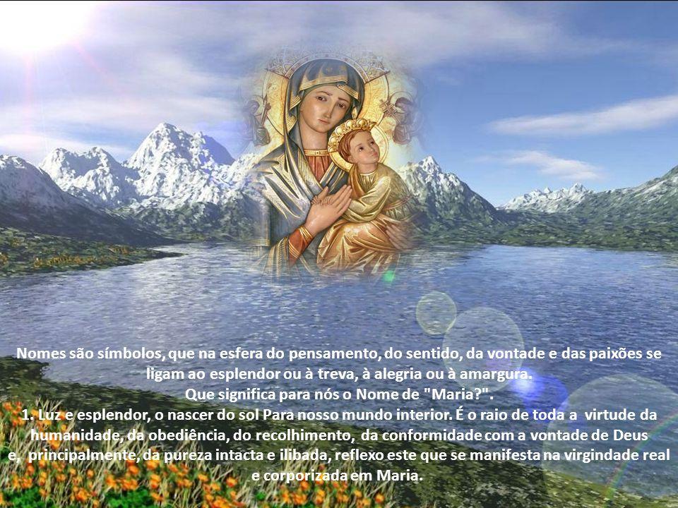 Que significa para nós o Nome de Maria .