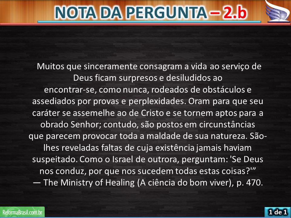 — The Ministry of Healing (A ciência do bom viver), p. 470.