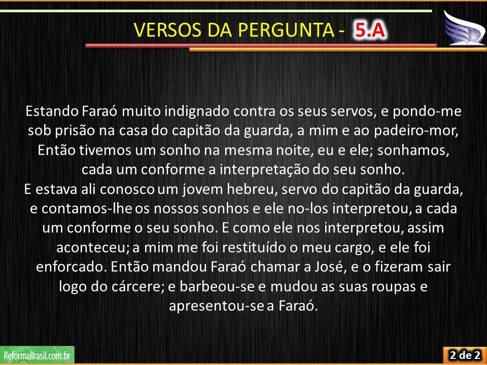 VERSOS DA PERGUNTA - 5.A