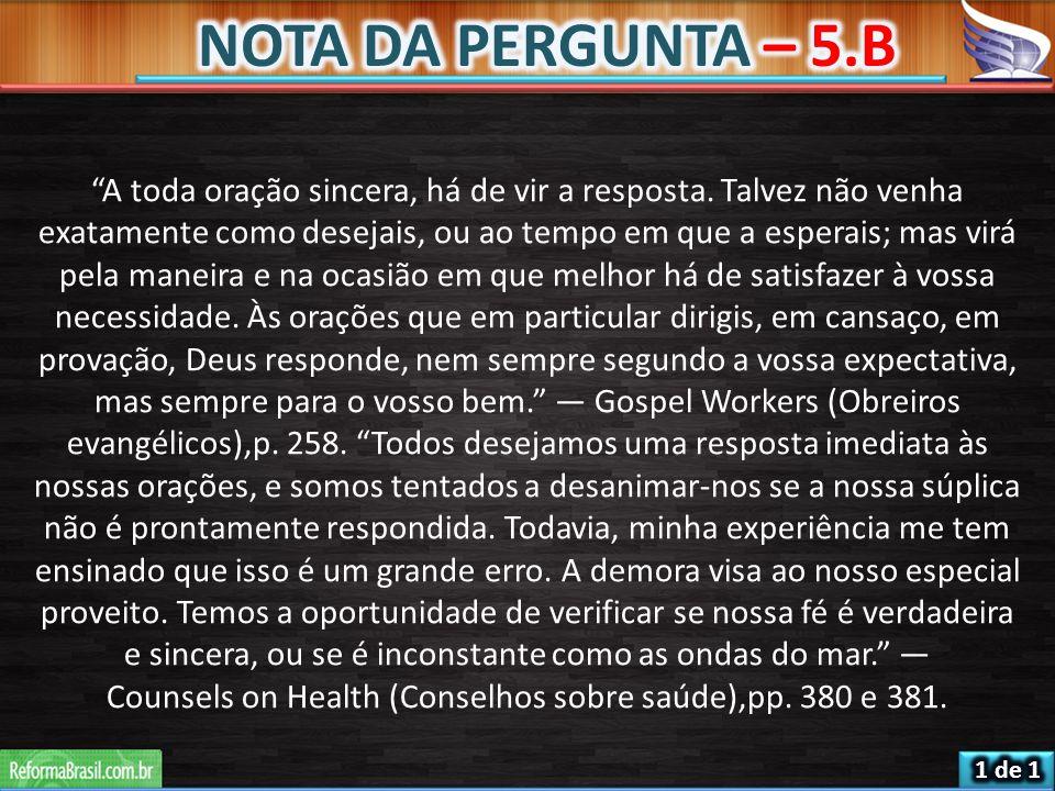 NOTA DA PERGUNTA – 5.B