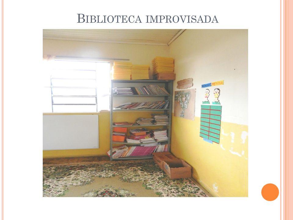 Biblioteca improvisada