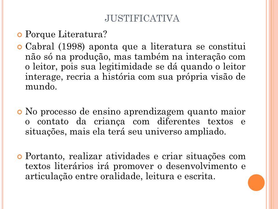 justificativa Porque Literatura
