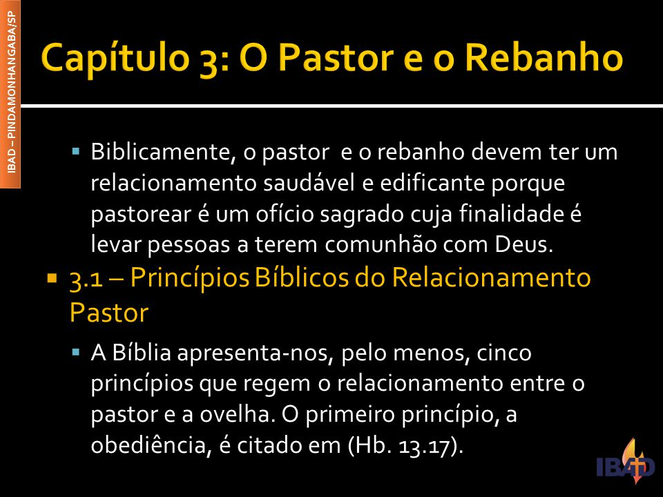 Capítulo 3: O Pastor e o Rebanho
