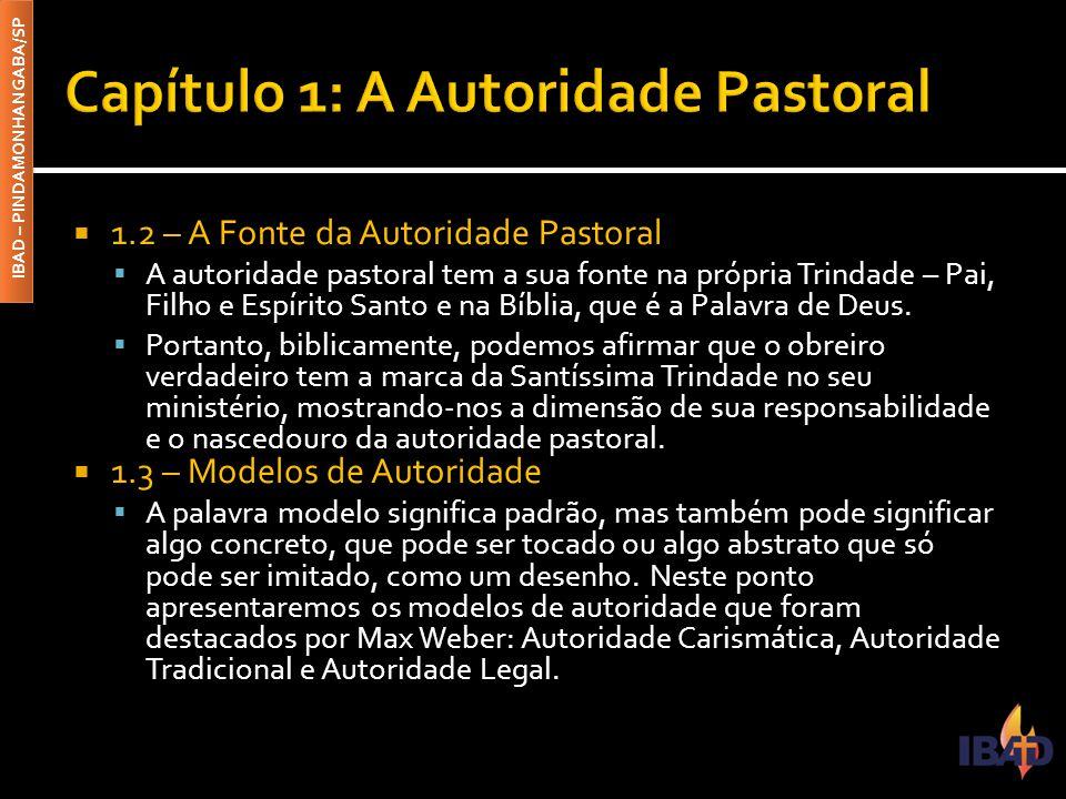 Capítulo 1: A Autoridade Pastoral