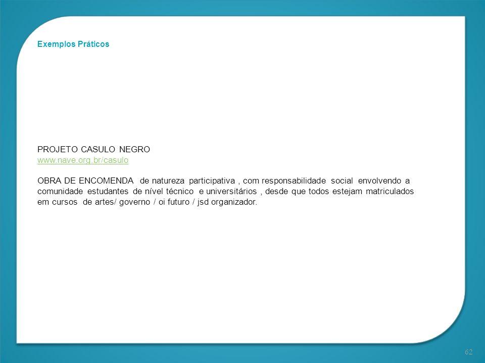 PROJETO CASULO NEGRO www.nave.org.br/casulo
