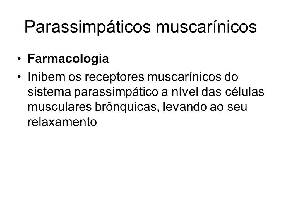 Parassimpáticos muscarínicos