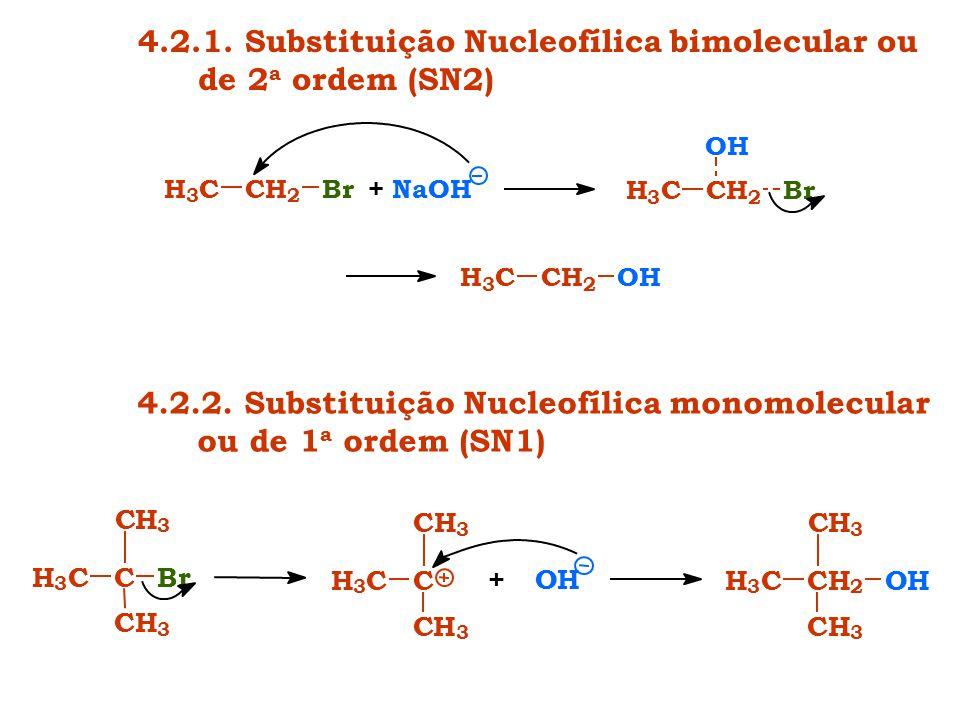 4.2.1. Substituição Nucleofílica bimolecular ou de 2a ordem (SN2)