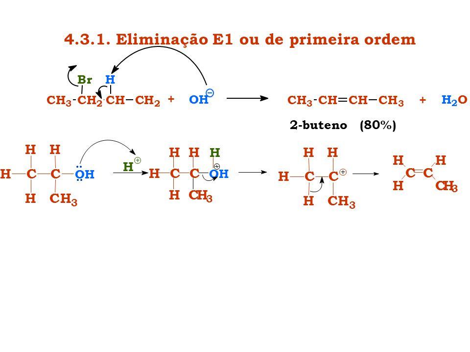 4.3.1. Eliminação E1 ou de primeira ordem