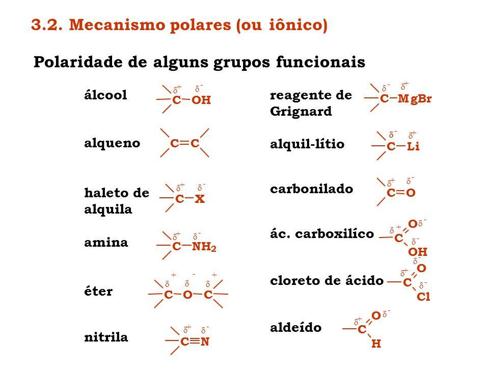 3.2. Mecanismo polares (ou iônico)