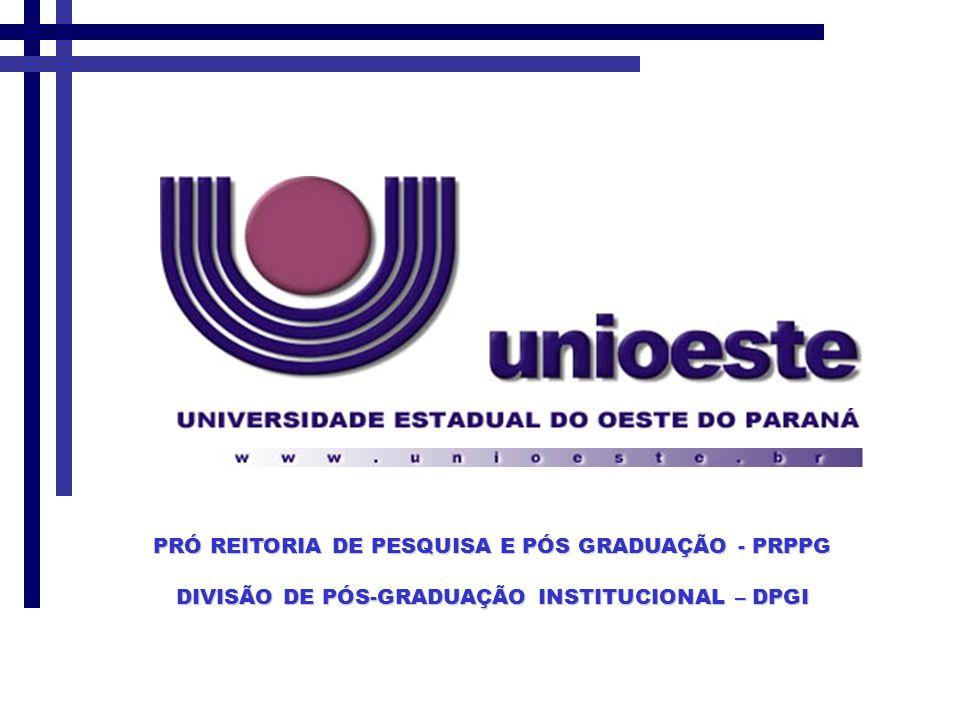 PRÓ REITORIA DE PESQUISA E PÓS GRADUAÇÃO - PRPPG
