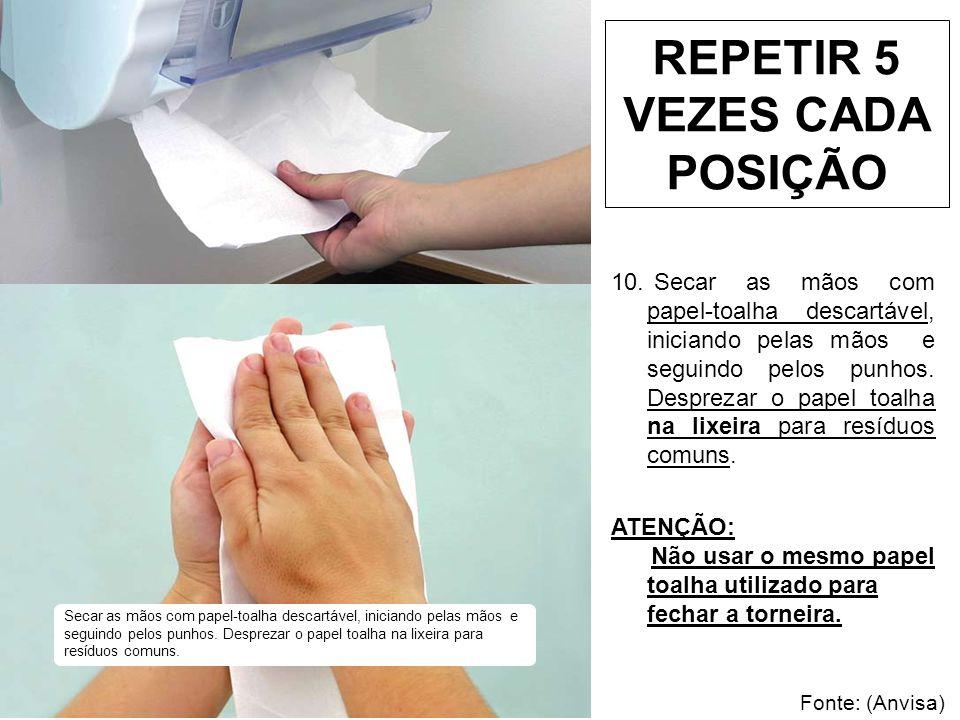 REPETIR 5 VEZES CADA POSIÇÃO