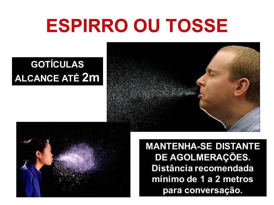 ESPIRRO OU TOSSE GOTÍCULAS ALCANCE ATÉ 2m